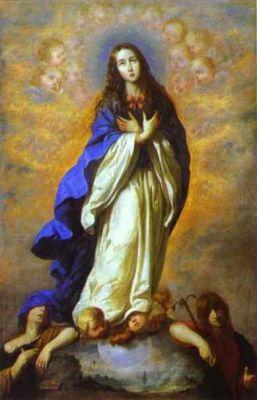 8 grudnia Niepokalane Poczęcie Najświętszej Maryi Panny Prawda o Niepokalanym Poczęciu Maryi jest dogmatem wiary. Ogłosił go uroczyście 8 grudnia 1854 r. bullą Ineffabilis Deus papież Pius IX w bazylice św. Piotra w Rzymie w obecności 54 kardynałów i 140 arcybiskupów i biskupów. Papież pisał tak:  Ogłaszamy, orzekamy i określamy, że nauka, która utrzymuje, iż Najświętsza Maryja Panna od pierwszej chwili swego poczęcia - mocą szczególnej łaski i przywileju wszechmocnego Boga, mocą przewidzianych zasług Jezusa Chrystusa, Zbawiciela rodzaju ludzkiego - została zachowana nietknięta od wszelkiej zmazy grzechu pierworodnego, jest prawdą przez Boga objawioną i dlatego wszyscy wierni powinni w nią wytrwale i bez wahania wierzyć.  Tym samym kto by tej prawdzie zaprzeczał, sam wyłączyłby się ze społeczności Kościoła, stałby się odstępcą i winnym herezji.  Maryja od momentu swojego poczęcia została zachowana nie tylko od wszelkiego grzechu, którego mogłaby się dopuścić, ale również od dziedziczonego przez nas wszystkich grzechu pierworodnego. Stało się tak, chociaż jeszcze nie była wtedy Matką Boga. Bóg jednak, ze względu na przyszłe zbawcze wydarzenie Zwiastowania, uchronił Maryję przed grzesznością. Maryja była więc poczęta w łasce uświęcającej, wolna od wszelkich konsekwencji wynikających z grzechu pierworodnego (np. śmierci - stąd w Kościele obchodzimy uroczystość Jej Wniebowzięcia, a nie śmierci). Przywilej ten nie miał tylko charakteru negatywnego - braku grzechu pierworodnego; posiadał również charakter pozytywny, który wyrażał się pełnią łaski w życiu Maryi. Historia dogmatu o Niepokalanym Poczęciu jest bardzo długa. Już od pierwszych wieków chrześcijaństwa liczni teologowie i pisarze wskazywali na szczególną rolę i szczególne wybranie Maryi spośród wszystkich ludzi. Ojcowie Kościoła nieraz nazywali Ją czystą, bez skazy, niewinną. W VII wieku w Kościele greckim, a w VIII w. w Kościele łacińskim ustanowiono święto Poczęcia Maryi. Późniejsi teologowie, szczególnie św. Be