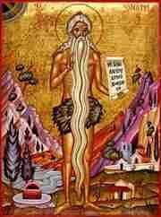 """Onufry (z gr. """"pasterz osłów"""") żył w Egipcie na przełomie IV i V wieku. Po zakończeniu edukacji w klasztorze w Hermopolis, przez ponad 60 lat przebywał samotnie na pustyni w pobliżu Tebaidy. Jest przedstawicielem wielkich pustelników pierwszych wieków. Jak św. Paweł z Teb, pierwszy pustelnik, całe swoje życie spędził samotnie na pustkowiu. Podobnie jak św. Pawła Pustelnika odkrył i wsławił św. Antoni, tak św. Onufrego odkrył św. Pafnucy. Według podania, całym okryciem Onufrego były długie włosy i broda sięgająca do kolan. Św. Pafnucy podaje w historii Onufrego legendę, że Onufrego żywił codziennie anioł, a w każdą niedzielę przynosił mu Komunię świętą. Na ręku św. Pafnucego Onufry, jako starzec, oddał Bogu ducha. Według liturgii greckiej śmierć Onufrego miała miejsce 12 czerwca. Rok jest nieznany. Było to jednak zapewne w wieku IV, gdyż datę śmierci św. Pafnucego zwykło się podawać w roku 380. Kult św. Onufrego bardzo rozpowszechnił się na Wschodzie. W Konstantynopolu miał on dwie kaplice, wystawione ku jego czci. Także w Rzymie ku czci Onufrego wystawiono kościół. Obecnie jego relikwie spoczywają w Sutera, na Sycylii. Jest patronem mnichów, dorożkarzy, pielgrzymów, tkaczy. Szczególnie czczony jest w Kościołach Wschodu.  W ikonografii św. Onufrego przedstawia się z długimi włosami i brodą. Jego atrybutami są: anioł z hostią, czaszka, grota przy źródle, dwa lwy kopiące mu dół, korona, kruk z chlebem w dziobie, krzyż w dłoni; duży, stojący krzyż, łańcuch wokół go opasujący."""