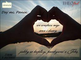Miłość to Ja - Jezus Chrystus - Miłość, która stała się Człowiekiem(,) i która powraca i przychodzi do ludzi w Duchu Świętym. Nie proś zatem[,] abym nauczył cię kochać. Proś i zabiegaj o to, abym był w tobie. Abyś ty była Mną, a Ja tobą. Miłość to nie umiejętność kochania, okazywania dobroci i miłosierdzia, której można się nauczyć i wyćwiczyć, by ją świadczyć ludziom. Miłość to Ja wypełniający twoje serce, które gdy jest mi oddawane w nieustającym akcie uwielbienia i wdzięczności- jest Moje całe i wszystko, co z niego wypływa[,] jest Mną. Wtedy Ja przez twoje serce idę do ludzi i obdarowuję ich Sobą. Przylgnij do Mnie, pragnij Mnie i pozwól, abym pochłonął cię całkowicie. Nie zginie wtedy twoja tożsamość[,] lecz odnajdzie się w tej doskonałości, jaka została ci dana w akcie stwórczym i do jakiej jesteś powołana w życiu wiecznym. / Słowo pouczenia- Alicja Lenczewska /
