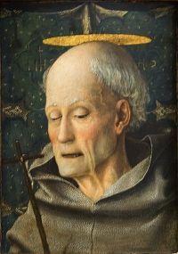IV0520 20 maja - Święty Bernardyn ze Sieny Bernardyn wcześnie został sierotą, wychowywał go stryj mieszkający w SieW 1402 wstąpił do zakonu franciszkanów, rok później złożył śluby zakonne i w 1404 otrzymał święcenia kapłańskie.  Dał początek nowej gałęzi zakonu — zwanego obserwantami, a w Polsce bernardynami. Reguła zakonu charakteryzowała się surowością, w ten sposób Bernardyn próbował przywrócić pierwotny charakter reguły franciszkańskiej. Zakładał nowe klasztory, podporządkowane głoszonym przez siebie zasadom.  Bernardyn był również wybitnym mówcą. Podczas kazań, głoszonych przez niego w całej Italii, zbierały się tłumy wiernych. Stąd też często odbywały się one nie w kościołach, a na placach przed świątyniami. Znany był z gorliwej modlitwy i oddawaniu szczególnej czci imieniu Jezus. Z tego powodu był podejrzewany o herezję. Za wstawiennictwem świętego Jana Kapistrana u papieża Marcina V został uwolniony od zarzutu.  W 1435 został generalnym przełożonym obserwantów. W 1439 brał udział w soborze florenckim i działał tu na rzecz zjednoczenia greckiego kościoła z katolickim. Trzykrotnie odmówił proponowanego mu biskupstwa w Ferrarze, Urbino i Sienie. Był też twórcą cennych dzieł teologicznych, dzięki którym został uznany za Doktora Kościoła.  Bernardyn ze Sieny jest patronem Kalifornii, oręduje przy chorobach płuc i uzależnieniach od hazardu.nie. Tutaj skończył na uniwersytecie prawo i teologię.