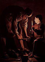 I0501 Józef z Nazaretu[edytuj] Ten artykuł dotyczy Józefa, oblubieńca Marii z Nazaretu. Zobacz też: innych świętych o tym imieniu. Święty Józef z Nazaretu Oblubieniec Najświętszej Maryi Panny rzemieślnik, cieśla  ilustracja Data urodzeniaI wiek p.n.e. Data śmierciok. 20 r. n.e. Czczony przezKościół katolicki Wspomnienie19 marca, 1 maja Atrybutylilia, młotek, hebel, Dzieciątko Jezus, laska Patronrodzin, robotników, stolarzy, gospodarzy, ojców Szczególne miejsca kultubazylika kolegiacka Wniebowzięcia Najświętszej Maryi Panny w Kaliszu CommonsMultimedia w Wikimedia Commons WikicytatyCytaty w Wikicytatach  Józef z Dzieciątkiem Jezus Józef z Nazaretu, hebr. יוֹסֵף, cs. Prawiednyj Iosif Obrucznik, Sprawiedliwy – małżonek Marii z Nazaretu, tradycyjnie nazywany jej Oblubieńcem, opiekun Świętej Rodziny, święty Kościoła powszechnego, uznany za patrona chrześcijańskich małżeństw, rodzin oraz ludzi pracy i dobrej śmierci, częstokroć porównywany do Abrahama.