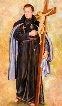 """19 października Święty Paweł od Krzyża, prezbiter  Paweł Franciszek Danei urodził się 3 stycznia 1694 r. w Ovada (Piemont). Pochodził ze zubożałej rodziny szlacheckiej. Ciężkie warunki materialne skłoniły go jako najstarszego z rodzeństwa, by wziąć na siebie pomoc w utrzymaniu rodziny. Paweł uczęszczał do jednej ze szkół w Genui i pomagał ojcu w handlu. W roku 1715 zdecydował się udać do Wenecji, by wziąć tam udział w zbrojnej wyprawie przeciwko Turkom jako wrogom krzyża. Kiedy jednak znalazł się w Crema, na modlitwie usłyszał w kościele głos: """"Twoim przeznaczeniem jest inna walka - z samym sobą, i głoszenie ukrzyżowanego Chrystusa"""". Powrócił więc do rodziny, zrzekł się swojej części dziedzictwa i udał się do Sestri Ponente. Przed obrazem Matki Bożej postanowił oddać się Bożej sprawie. 23 kwietnia 1719 r. z rąk biskupa Aleksandrii, Arboriusza z Gattinara, otrzymał sakrament bierzmowania. Tenże biskup, kiedy Paweł otworzył przed nim swoje sumienie, 22 listopada 1720 r. wręczył mu czarny habit z napisem: Jesu Christi Passio (Męka Jezusa Chrystusa). Paweł udał się do Castellazzo, gdzie przy kościółku św. Karola i św. Anny założył sobie pustelnię w ciasnej celi. Tu w 1721 r. napisał Diariusz (Dziennik duchowy) i reguły dla nowego zakonu. Za zezwoleniem biskupa głosił też kazania w okolicy. Wraz ze swoim młodszym bratem, Janem Baptystą, udał się do Rzymu, by prosić o zatwierdzenie nowego zakonu. Nie przyjęto go jednak. Było ich bowiem tylko dwóch. Z Rzymu Paweł udał się do Gaety, do sanktuarium Matki Bożej, a potem przez trzy lata przemierzał Włochy: od Piemontu i Ligurię po Neapol i Foggia, nawołując do pokuty i umiłowania ukrzyżowanego Zbawiciela. W roku 1725 udał się ponownie do Rzymu. Od Benedykta XIII otrzymał ustne zezwolenie na gromadzenie uczniów. W tym samym czasie oddawał się posłudze chorym w szpitalach rzymskich i prywatnie pogłębiał studia teologiczne. 7 czerwca 1727 r. sam Benedykt XIII udzielił mu święceń kapłańskich. Kiedy jednak ponownie zaczął obchodzić"""