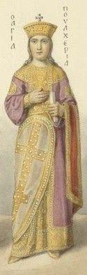 """IV0910 św. Pulcheria Święta Pulcheria na świat przyszła 10 stycznia 399 roku w Bizancjum. Była córką cesarza Arkadiusza i siostrą Teodozjusza II - od 414 r. cesarza Bizancjum.  Już samo imię świadczy o jej niezwykłości, bowiem wykazy hagiograficzne znają tylko jedną świętą o imieniu wywodzącym się od łącińskiego pulcher – co znaczy """"piękny"""". Nie dziwi więc fakt, że Pulcheria wedle historycznych przekazów wyróżniała się niezwykłą urodą.  We wczesnej młodości oddano ją na wychowanie eunuchowi Antiochowi, dzięki czemu zdobyła wszechstronne wykształcenie, ze znajomością greki i łaciny włącznie. Już jako piętnastolatka – po śmierci swego ojca – została cesarzową i pełniła wkrótce wszelkie dworskie obowiązki z zaskakującą, jak na swój młody wiek, rozwagą i sumiennością. Zarządzała imperium z uwagi na małoletniość następcy tronu – Teodozjusza II. Gdy ten dorósł, Pulcheria opuściła w roku 447 królewski dwór, by oddać się życiu klasztornemu. Wcześniej jednak, przez całe lata, zgodnie współrządziła z bratem. Otrzymała nawet tytuł Augusty, zaś jej popiersie stanęło zaraz obok popiersia Teodozjusza.  Pulcheria miała bardzo silny wpływ na Teodozjusza, co zaowocowało poprawom stosunków między Rzymem a Konstantynopolem. Dzięki jej staraniom ufundowano niezliczone ilości kościołów i opactw. Walnie przyczyniła się także do kanonizacji czterdziestu męczenników z Sebasty i zwalczania licznych w tamtych czasach herezji - dekrety przeciwko nestorianom, montanistom i eunomianom były jej inicjatywą. Prowadziła korespondencję z papieżem Leonem I Wielkim. Nie stroniła od nauki - w wolnym czasie pilnie studiowała Pismo Święte. Będąc żarliwą katoliczką, skłoniła Atenę Eudiokę, przyszłą żonę Teodozjusza II, do przyjęcia chrztu.  Na skutek intryg nieprzychylnego ministra Chryzapiusza, Pulcheria zmuszona była do opuszczenia dworu i zamieszkania w pałacu Hebdomon. Także Patriarcha Konstantynopola, Nestoriusz, dla spodobania się ministrowi, mającemu ogromny wpływ na cesarza, ukazywał jawną niechęć"""