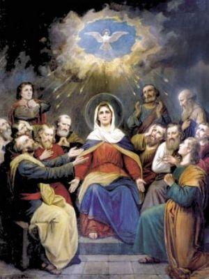 UROCZYSTOŚĆ ZESŁANIA DUCHA ŚWIĘTEGO.  1 Oto przez czasu obroty Powraca święto radosne, Kiedy na uczniów Chrystusa Zstępuje Duch Pocieszyciel.  2 Przyszedł w postaci płomienia I w drżących ognia językach, Aby usprawnić ich słowa, Rozpalić serca miłością.  3 Pogan ogarnia zdumienie, Bo każdy słyszy swą mowę, Tych zaś, co Ducha są pełni, Przenika żar uniesienia.  4 Wtedy dokonał się okres Paschalnych dni i tajemnic; Nowe zaczęły się czasy, Gdy Prawo moc utraciło.  5 Panie i Boże najlepszy, Pokornie Ciebie prosimy: Natchnij nas Duchem zesłanym I udziel nam Jego darów.  6 Tyś nasze serca namaścił, Napełnił łaski bogactwem, Teraz więc odpuść nam grzechy I życiem obdarz spokojnym.  7 Daj poznać, Duchu Najświętszy, Przez Ciebie Ojca i Syna, Wiarę w nas wszystkich umocnij, Że tchnieniem jesteś Obydwu. Amen. / hymn z dzisiejszej Jutrzni /