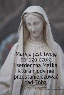 Nie lękaj się, że zbytnio kochasz Najświętszą Dziewicę, nigdy nie będziesz Jej kochała dostatecznie. Jezus będzie bardzo zadowolony, ponieważ Najświętsza Dziewica jest Jego Matką. // św. Teresa od Dzieciątka Jezus i Najświętszego Oblicza // Akt oddania siebie może być dokonany tylko Bogu jako naszemu Stwórcy i Ojcu. Trwając w jedności z Nim, możemy owego aktu oddania dokonać także na rzecz Maryi ze względu na szczególne relacje, jakie łączą Ją z Osobami Trójcy Przenajświętszej. Jest to jedyny przypadek oddania się człowieka, który nie tylko nie uwłacza rodzicielskiej miłości Boga, ale jest przez Niego chciany i pozostawiony wszystkim w testamencie umierającego na krzyżu Jezusa. Na mocy tego testamentu Maryja staje się duchową Matką każdego człowieka. Jezus angażuje Ją w wiedzę o twojej osobie. To poznanie cię przez Maryję ma nie tyle charakter intelektualny, co twórczy, posiadający moc kształtowania twego życia. W Bogu – jako twoja duchowa matka – Maryja poznaje całe twoje życie od czasu poczęcia w łonie ziemskiej matki, poprzez doświadczenie umierania aż po dopełnienie się twego istnienia w wieczności. / karmel.pl /