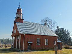 Kościół Aniołów Stróżów w Ubiszkach – katolicki kościół w Ubiszkach (Ubiškė), (Litwa).  Drewniany kościół postawiono w 1851 w miejscu starszego kościoła, zbudowanego w 1784.  Klasycystyczny budynek, zbudowany na planie prostokąta ma dwie zakrystie i pięciobocznie zamknięte prezbiterium. Fasadę kościoła tworzy wgłębny portyk z trapezoidalnym szczytem oraz czterema kolumienkami. W 1896 nad szczytem dobudowano ośmioboczną wieżyczkę o dwóch kondygnacjach, ozdobioną czterema pinaklami  Obok kościoła stoi dzwonnica zbudowana w 1835.  W wyposażeniu kościoła wyróżnia się neogotycki ołtarz i zdobiona ambona w stylu klasycystycznym.