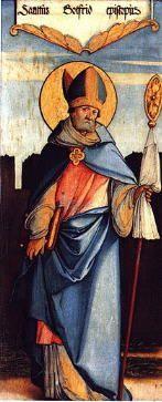 Dziś ---------------------------------------- 1108 --------------------------------------- Godfryd urodził się ok. 1065 r. Pochodził ze znakomitej rodziny. Chrztu udzielił mu jego wuj, opat benedyktyński w Mont-Saint-Quentin, nadając mu swoje zakonne imię. Kiedy chłopiec miał 5 lat, został przez wspomnianego opata przyjęty w charakterze oblata-kandydata do czasu, kiedy urośnie. Kiedy więc doszedł do wieku kanonicznego, po ukończeniu szkoły klasztornej, Godfryd wstąpił do benedyktynów. Pełnił początkowo różne obowiązki w opactwie, w charakterze zakonnego brata. Kiedy miał 25 lat, został wyświęcony na kapłana. Niebawem został powołany na opata w Nogent-sous-Concy. Odnowił w tym klasztorze życie zakonne. W roku 1104 opuścił dobrowolnie biskupstwo w Amiens tamtejszy pasterz, by nie odpowiadać za wykryte nadużycia. Kiedy poszukiwano jego następcy, wybór padł na Godfryda. Miał on wówczas 38 lat. Konsekracji dokonał arcybiskup Reims, Manasses. W tym czasie nawiedził Francję papież Paschalis II. Godfryd miał okazję się z nim zetknąć i odtąd zawiązała się między nimi przyjaźń. Dwa razy wędrował potem do Rzymu, by załatwić pilne sprawy swojej diecezji (1105 i 1107). Ponieważ popierał stanowisko mieszczan, pragnących uzyskać większą wolność, Godfryd został zmuszony do opuszczenia swojej stolicy. Schronił się w Chartreuse - Wielkiej Kartuzji, podejmując życie mnicha. Miał zamiar pozostać tu do końca życia. Synod w Beauvais nakazał mu jednak powrót do diecezji. W drodze powrotnej Godfryd wziął udział w synodzie, jaki odbywał się właśnie w Reims. Gdy tylko wrócił do swojej owczarni, zwołał synod do Chalons w roku 1115. Przebyte jednak cierpienia i trudy dały o sobie znać. Kiedy wracał do Amiens, zatrzymał się przez pewien czas w Soissons w opactwie benedyktyńskim. Czuł się bowiem mocno osłabiony. Tu 8 listopada 1115 r. zmarł. Świątobliwemu biskupowi zaraz po śmierci zaczęto oddawać kult. Mikołaj, mnich benedyktyński z Soissons, napisał wkrótce jego żywot (w latach 1136-1138). Kar