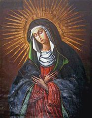 dziś ----------------------- 1116 -------------------------------------- Najświętsza Maryja Panna Ostrobramska Matka Miłosierdzia ------------------------------------ Litwo! Ojczyzno moja! ty jesteś jak zdrowie; Ile cię trzeba cenić, ten tylko się dowie, Kto cię stracił. Dziś piękność twą w całej ozdobie Widzę i opisuję, bo tęsknię po tobie.  Panno święta, co Jasnej bronisz Częstochowy I w Ostrej świecisz Bramie! Ty, co gród zamkowy Nowogródzki ochraniasz z jego wiernym ludem! Jak mnie dziecko do zdrowia powróciłaś cudem, (Gdy od płaczącej matki pod Twoją opiekę Ofiarowany, martwą podniosłem powiekę I zaraz mogłem pieszo do Twych świątyń progu Iść za wrócone życie podziękować Bogu), Tak nas powrócisz cudem na Ojczyzny łono.  Adam Mickiewicz Pan Tadeusz, Inwokacja  Ostra Brama w WilnieZarówno cudowny obraz, jak i kaplica, w której się mieści, oraz sama Ostra Brama mają bogatą historię, ściśle wiążącą się z historią rozbudowy Wilna. Na przełomie XV i XVI w. postanowiono otoczyć je murem obronnym. Powstało dziewięć bram miejskich, z których jedna (jedyna zachowana do naszych czasów) nosiła nazwę Miednickiej, inaczej Krewskiej. Nieco później przyjęła się inna nazwa bramy - Ostra. Zgodnie z tradycją na bramach obronnych zawieszano święte obrazy. Ostra Brama po obu jej stronach również miała własne obrazy, które po pewnym czasie uległy zniszczeniu. Jednym z tych obrazów był wizerunek Matki Bożej. Z czasem miejsce to stało się miejscem modlitwy do Maryi. Kult Matki Miłosierdzia z Ostrej Bramy jest ogromny i niezrównany w swej sile. Sięga drugiej połowy XVII w. i wiąże się z obroną murów miasta. Jednakże wyraźne jego wzmożenie nastąpiło w I połowie XVIII w. Szczególny rozwój czci Matki Miłosierdzia nastąpił po rozbiorach Polski. W 1993 roku modlił się w kaplicy w Ostrej Bramie św. Jan Paweł II. Ofiarował wtedy Matce Bożej Miłosierdzia złotą różę. Kult Matki Bożej Ostrobramskiej jest ciągle żywy i obecny nie tylko na terenie Litwy, ale także w sąsiednich krajach. W Polsce ok