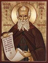"""1205 --------------------------- Św. Saba Jerozolimski, kapłan, opat. Urodził się w 439 roku w Mutalasce koło Cezarei Kapadockiej. Gdy ojca, oficera armii cesarskiej, przeniesiono do odległego garnizonu, Saba wychowywał się u krewnych. Od ósmego roku życia przebywał w klasztorze. Kiedy miał 18 lat, udał się do Palestyny. Przez jakiś czas przebywał w klasztorze Theoktistos. W 469 roku podjął życie pustelnika na Pustyni Judzkiej. Z czasem gromadzili się wokół niego uczniowie. Założył dla nich Wielką Ławrę - klasztor Mar Saba. Święcenia kapłańskie przyjął w wieku 48 lat. W kilka lat później został archimadrytą wszystkich klasztorów i pustelników palestyńskich. Nie mogąc poddać dyscyplinie monastycznej niektórych pustelników, usunął się na pustelnię. Po pewnym czasie opuścił ją jednak, udał się do Jerozolimy i tam w pobliżu potoku Cedron założył Nową Ławrę. Zgromadziła ona kilkuset mnichów mieszkających w rozlicznych grotach. Saba założył w sumie 15 klasztorów i 3 hospicja dla pielgrzymów. W sporach doktrynalnych opowiedział się za nauką Soboru Chalcedońskiego (451). Z myślą o jej przyjęciu udał się do cesarza Anastazego I w Konstantynopolu. Saba jest autorem """"Typikonu"""" - księgi regulującej przebieg całorocznej liturgii. Została ona przyjęta przez cały Kościół Wschodni. Zmarł w Mar Saba 5 grudnia 532 roku."""