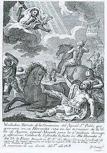 """25 stycznia 2020sobota Rok liturgiczny: A/II Święto Nawrócenia św. Pawła Apostoła --- 25 stycznia Nawrócenie św. Pawła, Apostoła --- Szaweł urodził się w Tarsie w Cylicji (obecnie Turcja) około 5-10 roku po Chrystusie. Pochodził z żydowskiej rodziny silnie przywiązanej do tradycji. Byli niewolnikami, którzy zostali wyzwoleni. Szaweł odziedziczył po nich obywatelstwo rzymskie. Uczył się rzemiosła - tkania płótna namiotowego. Później przybył do Jerozolimy, aby studiować Torę. Był uczniem Gamaliela (Dz 22, 3). Gorliwość w strzeżeniu tradycji religijnej sprawiła, że mając około 25 lat stał się zdecydowanym przeciwnikiem i prześladowcą Kościoła. Uczestniczył jako świadek w kamienowaniu św. Szczepana. Około 35 roku z własnej woli udał się z listami polecającymi do Damaszku (Dz 9, 1n; Ga 1, 15-16), aby tam ścigać chrześcijan. Jak podają Dzieje Apostolskie, u bram miasta """"olśniła go nagle światłość z nieba. A gdy upadł na ziemię, usłyszał głos: «Szawle, Szawle, dlaczego Mnie prześladujesz?» - «Kto jesteś, Panie?» - powiedział. A On: «Jestem Jezus, którego ty prześladujesz. Wstań i wejdź do miasta, tam ci powiedzą, co masz czynić» (Dz 9, 3-6). Po tym nagłym, niespodziewanym i cudownym nawróceniu przyjął chrzest i zmienił imię na Paweł. Po trzech latach pobytu w Damaszku oraz krótkim pobycie w Jerozolimie odbył trzy misyjne podróże: pierwszą - w latach 44-49: Cypr-Galacja, razem z Barnabą i Markiem; drugą w latach 50-53: Filippi-Tesaloniki-Berea-Achaia-Korynt, razem z Tymoteuszem i Sylasem; trzecią w latach 53-58: Efez-Macedonia-Korynt-Jerozolima. Św. Paweł, nazywany Apostołem Narodów, jest autorem 13 listów do gmin chrześcijańskich, włączonych do ksiąg Nowego Testamentu. W Palestynie Paweł został aresztowany i był przesłuchiwany przez prokuratorów Feliksa i Festusa. Dwa lata przebywał w więzieniu w Cezarei. Gdy odwołał się do cesarza, został deportowany drogą morską do Rzymu. Dwa lata przebywał w więzieniu o dość łagodnym regulaminie. Uwolniony, udał się do Efezu, Hiszpanii """