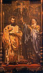"""14 lutego 2020piątek Rok liturgiczny: A/II Święto świętych Cyryla, mnicha, i Metodego, biskupa - patronów Europy ---------------------------------- Święty Cyryl, właściwie Konstantyn, cs. Rawnoapostolnyj Kiriłł, uczitiel Słowienskij (ur. ok. 827 w Tesalonice, zm. 14 lutego 869) i Święty Metody, właśc. Michał, cs. Rawnoapostolnyj Miefodij, uczitiel Słowienskij (ur. ok. 815, zm. 6 kwietnia 885), Bracia Sołuńscy, misjonarze. Prowadzili w IX wieku misje chrystianizacyjne, m.in. na ziemiach zamieszkanych przez Słowian. Twórcy rytu słowiańskiego, święci Kościoła katolickiego i prawosławnego nazywani apostołami Słowian (gr. Άγιοι Κύριλλος και Μεθόδιος ιεραπόστολοι των Σλάβων) i apostołami Bułgarii. Cyryl-Konstantyn nazywany też Filozofem pochodził z wielodzietnej, chrześcijańskiej rodziny wysokiego, bizantyjskiego urzędnika[1]. Był bratem Metodego i najmłodszym z siedmiorga rodzeństwa[1][2]. Niektóre późne biografie podają słowiańskie pochodzenie matki[3][4][5]. Z tego powodu rodzice mieli posługiwać się biegle językiem słowiańskim i znać obyczaje Słowian[6]. Według innych źródeł, wszyscy ówcześni mieszkańcy Tesaloniki mieli biegle znać mowę słowiańską. W Żywotach Św. Metodego z 885 roku znajduje się fragment wypowiedzi cesarza skierowanej do misjonarzy:  """"Słyszysz li filozofie, słowa te. Otóż dam ci dary mnogie, weź z sobą brata swego, ihumena Metodego, i idź. Jesteście bowiem Tesalończykami, a wszyscy Tesalończykowie czysto po słowiańsku mówią""""[7]..  Istnieją również opracowania, które wskazują na brak dowodów pochodzenia matki. Polski slawista Leszek Moszyński we Wstępie do filologii słowiańskiej pisze:  """"Ojciec ich Leon był wyższym dowódcą wojskowym. Chociaż byli Grekami, znali od dzieciństwa także język słowiański, bowiem nie tylko okolice Sołunia, ale i jego przedmieścia zamieszkałe były przez Słowian. Przypuszczenia jednak, że matka ich Maria była Słowianką, nie udało się udowodnić""""[8].  Początkowo bracia prowadzili misje wśród Chazarów na Krymie[9][10], na Półwyspi"""