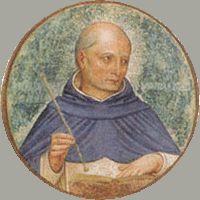 13 lutego 2020czwartek Rok liturgiczny: A/II V Tydzień zwykły ----------------- Duchowy opiekun Krzyżaków - bł. Jordan z Saksonii -------------------- Jordan przyszedł na świat w 1175 lub 1185 roku w westfalskiej miejscowości Burgberg.  Następne wzmianki o nim w zachowanych do naszych czasów, średniowiecznych dokumentach, informują nas, iż w młodości studiować miał w Paryżu, gdzie zdobył tytuł magistra.  W stolicy Francji spotkał Jordan świętego Dominika, który wywarł na późniejszym błogosławionym tak wielkie wrażenie, iż ten miał odbyć przed nim spowiedź z całego swego życia i wstąpić do dominikańskiej wspólnoty. Wydarzenie to nastąpiło w 1220 roku, a już rok później Jordan został wybrany na prowincjała dominikanów Lombardii, by wkrótce potem – po śmierci Dominika - zostać przełożonym generalnym całego już zakonu.  Pod czujnym okiem świetnego organizatora, jakim okazał się być Jordan, Zakon Kaznodziejski rozkwita. W ciągu niespełna piętnastu lat rządów saksońskiego błogosławionego z 30 domów zakonnych robi się 300, zaś do 300 dotychczasowych braci zakonnych przybywa 3700 kolejnych, w tym wielu studentów i wybitnych intelektualistów z uniwersytetów Kolonii, Paryża, Bolonii i Oksfordu. Wśród nich inny późniejszy święty, Albert Wielki. Warto także wspomnieć, że to właśnie błogosławiony Jordan opublikował regułę dominikanów oraz spisał pierwszy żywot świętego Dominika.  Jordan zmarł utonąwszy w czasie burzy morskiej 13 lutego 1237 roku, kiedy wracał z wizytacji jednego z założonych przez siebie klasztorów w Ziemi Świętej. Z czasem na patrona, czy też opiekuna duchowego obrali go sobie Krzyżacy.