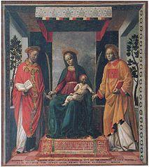 15 lutego 2020sobota Rok liturgiczny: A/II V Tydzień zwykły ------------------- Faustyn i Jowita, łac. Faustinus i Iouita, wł. Faustino e Giovita – rycerze, męczennicy i święci Kościoła katolickiego.  Żyli w II wieku. Pochodzili z pogańskiej szlacheckiej rodziny. Sami nawrócili się i przyjęli chrześcijaństwo. Legenda przedstawia ich jako braci. Starszy Faustyn był kapłanem, Jowita diakonem. Według przekazów między 117 a 138 rokiem, za rządów cesarza Hadriana, więzieni i torturowani najpierw w Mediolanie i Neapolu, ponieśli śmierć męczeńską za wiarę w Brescii przez ścięcie mieczem. Pochowani zostali poza murami miasta w porta Matolfa.  Tradycja wspomina o istniejącym już w III wieku oratorium na miejscu pochówku męczenników. Wzmianka o kościele pod wezwaniem św. Faustyna w Brescii pojawia się dopiero ok. 600 roku za sprawą św. Grzegorza Wielkiego, a w Martyrologium Hieronimiańskim pod dniem 16 lutego wzmianka o Faustynie i Juwencji. Nie należy mylić obu postaci. Święty Faustyn z Brescii (+381) był biskupem i następcą św. Ursycyna (+347).  Obaj są patronami Brescii[1].  Wspomnienie liturgiczne braci męczenników obchodzone jest 15 lutego[2].  W ikonografii święci przedstawiani są jako rycerze bądź jako kapłani w chwili męczeństwa.