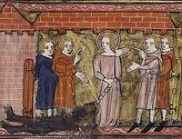 16 luty ---------------------- Św. Juliana, dziewica, męczennica   łac. imię męskie Julius – pochodzący z rodu Julia, Julianus nosił je rzymski cesarz Flavius Claudius Julianus   Św. Juliana, dziewica, męczennica († 305). Ojciec postanowił ją wydać za prefekta Nikomedii. Wobec odmowy kazał swą córkę, jako chrześcijankę, przyprowadzić przed sąd, któremu przewodniczył. Kiedy zachęty i groźby nie odnosiły skutku nie mogąc pojąć, jak może odrzucać zaszczytną dla siebie ofertę małżeńską poddał ją torturom, a następnie skazał na śmierć przez ścięcie mieczem.  W IKONOGRAFII św. Juliana przedstawiana jest w długiej szacie. Jej atrybutami są: u stóp diabeł w łańcuchach, korona, księga, krzyż, lilia, miecz, palma męczeńska.