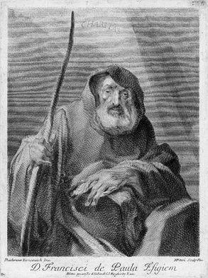 """2 kwietnia 2020czwartek Rok liturgiczny: A/II Dzień Powszedni albo wspomnienie Św. Franciszka z Pauli, pustelnika ------------- Św. Franciszek z Pauli -------------------- Urodził się 27 marca 1416 roku w Paoli (Pauli), leżącej we włoskiej Kalabrii. Starając się o potomka - bezskutecznie od 15 lat - jego rodzice modlili się gorliwie do świętego Franciszka z Asyżu, więc gdy dziecko przyszło wreszcie na świat, dali synowi na imię Franciszek.  Przebywając w Rzymie nie potrafił się pogodzić z faktem, iż część duchowieństwa żyje w niespotykanym przepychu, który nie miał nic wspólnego z ideą ewangelicznego ubóstwa.  Mając 14 lat wybrał życie pustelnicze i ascetyczne, zaś po czasie, gdy wokół jego osoby zgromadziło się wiele osób prowadzących podobny żywot, powstał Zakon Braci Najmniejszych zwanych też paulanami lub minimitami, który zatwierdzono w roku 1474. Franciszka uważano za cudotwórcę: miał przykładowo wskrzesić syna swej siostry lub - gdy nie chciano go wpuścić na pokład statku - przepłynąć na płaszczu drogę z Italii na Sycylię, gdzie założył nowy klasztor.  Od roku, 1483 jako królewski doradca, przebywał we Francji. Tam też ułożył regułę swojego zakonu, która w roku 1493 została zatwierdzona przez papieża Aleksandra VI, nawiązywała zaś surowością do eremitów wczesnochrześcijańskich. Zmarł 2 kwietnia 1507 roku w klasztorze Plessis-les-Torus w Dolinie Loary, który ufundował dla niego Karol VII. Tam też został pochowany. W roku 1519 papież Leon X ogłosił świętym.  W ikonografii przedstawia się go w habicie z kapturem i napisem """"Charitas"""". Jest patronem pustelników, rybaków i marynarzy włoskich, a także wielu południowoeuropejskich miast (m. in. Tours, Neapolu, Turynu, Genui, Sycylii). Dzień jego pamiątki niezwykle uroczyście obchodzi się na południu Włoch – urządza się tam przykładowo barwną procesję nad brzegiem morza z figurą świętego Franciszka z Pauli. W malarstwie, na swych obrazach, przedstawiał go między innym Rubbens."""