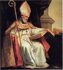 4 kwietnia 2020sobota Rok liturgiczny: A/II Dzień Powszedni albo wspomnienie Św. Izydora, biskupa i doktora Kościoła ----------------------- Izydor z Sewilli, również Izydor Sywilski, łac. Isidorus Hispalensis (ur. ok. 560 w Kartagenie, zm. 4 kwietnia 636 w Sewilli) – arcybiskup Sewilli, święty Kościoła katolickiego, doktor Kościoła[1]. Jego rodzina liczyła kilku świętych: braci św. Leandra i św. Fulgencjusza oraz siostrę św. Florentynę. Wśród nich najsłynniejszym jest św. Izydor.  Izydor pochodził prawdopodobnie z Nowej Kartaginy w Murcji, ze znakomitej rodziny rzymsko-hiszpańskiej. W czasie najazdu cesarza wschodniorzymskiego na Hiszpanię jego ojciec, Sewerian, miał z żoną i dziećmi uciec do Sewilli w roku 554, gdzie w tym samym roku miał mu się urodzić św. Izydor. Św. Izydor jako chłopiec nie lubił nauki, a zdobywanie wiedzy nie było jego ulubionym zajęciem. Po rychłej śmierci rodziców wychowaniem młodszego rodzeństwa zajął się najstarszy brat, św. Leander, który był wówczas arcybiskupem w Sewilli. Ariański król Wizygotów, Leowigild skazał też na wygnanie św. Leandra (584), pozbawiając go stolicy biskupiej.  Po śmierci św. Leandra św. Izydor został wybrany na jego miejsce metropolitą Sewilli. Przez 35 lat rządził archidiecezją, umacniał Kościół w Hiszpanii, zwołując synody, tworząc szkoły i domy zakonne. Uważał, że należy kształcić młodzież, przekazując jej na wszelkie sposoby wiedzę, aby była mądra i pobożna. Na synodach uchwalano prawa, dotyczące karności religijnej i życia kościelnego. I tak na synodzie narodowym w Toledo (633) ułożono symbol wiary, który przez długie wieki był odmawiany w liturgii nie tylko w Hiszpanii, ale poza jej granicami. Ustalono również dla całego państwa jednolitą liturgię i wyznaczono stałe terminy dla synodów. Mówiono o nim, że polotem dorównywał Platonowi, wiedzą – Arystotelesowi, wymową – Cyceronowi, wszechstronnością – Dydymowi, powagą – św. Hieronimowi, nauką – św. Augustynowi, a jego świętość życia porównywano do św. Grzegorza 