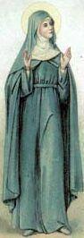 5 kwiecień ------------------ Bł. Julian(n)a z Mont Cornillon, pustelnica    łac. imię męskie Julius – pochodzący z rodu Julia, Julianus nosił je rzymski cesarz Flavius Claudius Julianus   Bł. Julian(n)a z Mont Cornillon, pustelnica urodziła się w 1192 roku w Retinne koło Liege. Po śmierci rodziców zostaje oddana do konwentu sióstr augustianek w Cornillon. Mając 15 lat wstępuje do tej zakonnej wspólnoty. Podczas pobytu w klasztorze doznaje wizji mistycznych. Pod ich wpływem, już jako przełożona, wystąpiła do miejscowego biskupa o wprowadzenie święta Bożego Ciała.  Po raz pierwszy obchodzono to święto w 1247 r. w Liege. Miejscowy archidiakon, Jakub Pantaleon, był szczególnym orędownikiem nabożeństwa do Ciała i Krwi Chrystusa. Kiedy został papieżem, przyjmując imię Urbana IV, wprowadził święto Bożego Ciała jako obowiązujące w całym Kościele. Bł. Juliana nie doczekała tego faktu. Usunięta z funkcji przełożonej spędziła resztę życia jako rekluza pustelnica zamurowana w swej celi.  Zmarła w dniu, który przepowiedziała: 5 kwietnia 1258 roku.