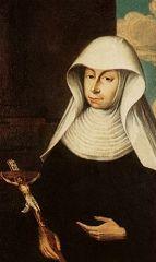 """5 kwiecień  -----Św. Maria Krescencja Höss    akkad. mariam napełnia radością; egip. merijam ukochana przez Boga; hebr. Mirjam pani. Ze względu na cześć wobec Matki Bożej używa się imienia Maryja; kobiety, które przyjęty Jej imię, używają formy: Maria.   Św. Maria Krescencja Höss urodziła się 20 października 1682 r. w Kaufbeuren w Bawarii jako siódme z ośmiorga dzieci. w 1703 r., mimo trudności ze strony rodziny i wątpliwości przełożonego, została przyjęta do Trzeciego Zakonu Franciszkańskiego; rok później złożyła śluby.  Pomiędzy 1709 a 1741 rokiem pełniła wszystkie najważniejsze posługi. w latach 1726-1741 była mistrzynią nowicjatu (1726-1741); odznaczała się wyjątkowym oddaniem i hojnością. Kiedy w 1741 r. została wybrana przełożoną, odmówiła przyjęcia tej funkcji; została jednak zmuszona do wycofania odmowy. Swoim współsiostrom zalecała troskę o ciszę, rekolekcje i duchowe czytanie, szczególnie Ewangelii. Nauczycielem i Mistrzem ich życia duchowego miał być Chrystus Ukrzyżowany.  Siostra Maria była też mądrą i roztropną doradczynią dla wszystkich, którzy zwracali się do niej po pomoc i pociechę, o czym świadczą liczne zachowane listy.  Przez trzy lata, kiedy była przełożoną domu w Mayerhoff, okazała się być właściwie jego drugą fundatorką. Nie przyjmowała do wspólnoty wszystkich, którzy tego pragnęli, tłumacząc to słowami: """"Bóg chce, by ta wspólnota była bogata w cnotę, a nie w dobra doczesne"""". Głównymi punktami jej programu odnowy domu były: nieograniczone zaufanie do Bożej Opatrzności, gotowość do pełnienia aktów służących życiu wspólnemu, umiłowanie milczenia oraz nabożeństwo do Jezusa Ukrzyżowanego, Eucharystii i Matki Najświętszej.  Maria Krescencja zmarła w Wielkanoc 1744 r. Jej doczesne szczątki są nadal bardzo czczone w kaplicy jej klasztoru. Beatyfikowana została w 1900 r.; 25 listopada 2001 r. kanonizował ją Jan Paweł II.-------------"""