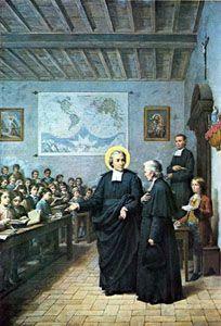 7 kwietnia 2020wtorek Rok liturgiczny: A/II Wielki Tydzień ----------------- 7 kwietnia Święty Jan Chrzciciel de la Salle, prezbiter ------------------------ Jan urodził się w Reims 30 kwietnia 1651 r. w podupadłej rodzinie książęcej jako najstarszy z jedenaściorga rodzeństwa. Straciwszy rodziców, przerwał studia na paryskim uniwersytecie i w seminarium, aby zająć się najbliższą rodziną. Po pewnym czasie kontynuował naukę. W wieku 27 lat przyjął święcenia kapłańskie. W trzy lata potem na uniwersytecie w Reims zdobył doktorat z teologii (1680). Zaraz po święceniach otrzymał probostwo. Powierzono mu także kierownictwo duchowe nad szkołą i sierocińcem, prowadzonym przez Siostry od Dzieciątka Jezus (terezjanki). Jan postarał się w Rzymie o zatwierdzenie zgromadzenia zakonnego tych sióstr. Bardzo bolał na widok setek sierot, pozbawionych zupełnie pomocy materialnej i duchowej. Gromadził ich na swej plebanii, której część zamienił na internat. Następnie na użytek biednych dzieci oddał swój rodzinny pałac. Ponieważ sam był zajęty duszpasterstwem, dlatego musiał szukać ochotników, by mu w tej pracy dopomogli. Oni to, pod kierunkiem Jana, zajmowali się wychowaniem i kształceniem dziatwy. Pobożne panie zajmowały się ich żywieniem. Kiedy ani plebania, ani dom rodzinny nie mogły pomieścić przygarniętych, ks. Jan za pieniądze parafialne i otrzymane od pewnej zamożnej kobiety zakupił osobny obszerny dom. Napisał też regulamin, by praca mogła iść sprawnie. Z tych ofiarnych pomocników wyłoniło się z czasem zgromadzenie zakonne pod nazwą Braci Szkół Chrześcijańskich (braci szkolnych). Za jego początek przyjmuje się dzień 24 czerwca 1684 roku. Jan miał wówczas zaledwie 31 lat. Stworzył wiele typów szkół - podstawowe, wieczorowe, niedzielne, zawodowe, średnie, seminaria nauczycielskie. Nauka w nich była bezpłatna. Na polu pedagogiki Jan zajmuje więc poczesne miejsce. W swoich szkołach wprowadził na pierwszym miejscu język ojczysty, podczas gdy dotychczas powszechnie uczono w języku ła