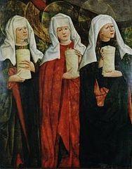 9 kwietnia 2020czwartek Rok liturgiczny: A/II Triduum Paschalne -------------- Św. Maria Kleofasowa, także Maria Alfeuszowa (ur. I wiek p.n.e., zm. I wiek n.e.) – postać biblijna, żona Kleofasa (Alfeusza), krewna Maryi, matki Jezusa. ---------------- Należała do grupy bliskich zwolenników Chrystusa i była matką jego uczniów: apostoła Jakuba Mniejszego oraz prawdopodobnie Judy Tadeusza i Szymona[a][1]. Usługiwała Jezusowi podczas jego pobytu w Galilei.  Wraz z Maryją i Marią Magdaleną stała pod krzyżem i była świadkiem męczeńskiej śmierci Chrystusa[2]. Po pogrzebie Chrystusa wraz z Marią Magdaleną czuwała przy jego grobie. Wraz z Magdaleną były świadkami trzęsienia ziemi, podczas którego anioł otworzył wejście grobowca i ogłosił, że Jezus powstał z martwych. Kobiety pobiegły ogłosić nowinę apostołom, w drodze spotkały zmartwychwstałego Chrystusa[3]. Kiedy kobiety opowiedziały nowinę uczniom Chrystusa, ci uznali to za niedorzeczność i nie uwierzyli im[4].  Wspominana jest przez Kościół katolicki 9 kwietnia[5].