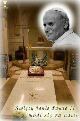 """""""Nie płaczcie nad moją nieobecnością, czujcie się blisko mnie i mówcie do mnie jeszcze. Będę Was kochał z Nieba, jak kochałem na ziemi"""" Św. Jan Paweł II"""