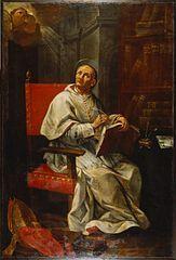 """III 21 LUTEGO Święty Piotr Damiani urodził się w 1007 roku w ubogiej rodzinie pochodzącej z Rawenny. Udało mu się jednak skończyć studia – między innymi na uniwersytecie w Parmie. Po święceniach kapłańskich rozpoczął pracę jako nauczyciel w jednej z parafialnych szkół. Z czasem jednak porzucił to zajęcie, wybierając żywot ascetyczny i pustelniczy, następnie zaś wstąpił do klasztoru benedyktynów-eremitów.  W wiele lat później, gdy z uwagi na swą skromność nie chciał przyjąć godności kardynalskiej, papież musiał zagrozić mu ekskomuniką, aby skłonić go w jakiś sposób do zostania kardynałem.  W roku 1043 został opatem eremu w Ponte Avellana, a zarazem odnowicielem życia zakonnego i swoistym doradcą innych klasztorów. Za doradcze zdolności cenili Piotra Damianiego także kolejni papieże: Klemens II, Leon IX, Stefan II, Damazy II i Aleksander II oraz cesarze: Henryk IV i Otton III.  Do dziś uchodzi on za jednego z największych średniowiecznych erudytów. Dante Alighieri wspomina o nim przykładowo w """"Boskiej komedii"""" (jak czytamy we wstępie do Pieśni XXI w """"Raju"""": """"Jeden z duchów, Pier Damiano, poucza Dantego o tajemnicy przeznaczenia, mówi o swoim życiu i wygłasza inwektywę przeciwko kosztownym strojom duchowieństwa...""""). Podczas sporów o inwestyturę i symonię, licznymi pismami zwalczał owe nadużycia w nadawaniu i handlu godnościami, urzędami kościelnymi, sakramentami, czy dobrami duchowymi. Piętnował także nieobyczajność ówczesnego kleru. Zachował się także jeden z jego listów z pogróżkami kar Bożych, wysłanych do antypapieża Honoriusza.  Poza ową """"doraźną"""" publicystyką, pozostawił po sobie jednak Damiani, także i liczne poetyckie utwory, teksty dotyczące prawa kanonicznego, czy traktaty. W jednym z nich tak sugestywnie i zachwycającą udało mu się opisać atuty pustelniczego życia, że wielu, spośród licznych czytelników tego dzieła zdecydowało się potem przystać do kamedułów. To właśnie Piotr Damiani był pierwszym teologiem, który rozpowszechnił teorię dwóch mieczy, które J"""