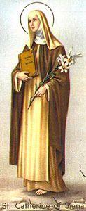 29 kwietnia przypada wspomnienie/święto: Święta Katarzyna ze Sieny, dziewica i doktor Kościoła patronka Europy.  Katarzyna Benincasa urodziła się 25 marca 1347 r. w Sienie (Włochy). Była przedostatnim dzieckiem z dwudziestu pięciu, w mieszczańskiej rodzinie Jakuba Benincasy i Lapy Piangenti – córki poety Nuccio Piangenti. Przyszła na świat jako bliźniaczka, ale jej siostra, Janina, zaraz po urodzeniu zmarła. Rodzina jednak nie cierpiała biedy, skoro stać ją było na to, by przyjąć do swego grona sierotę po starszym bracie, Tomasza Fonte, który, po wstąpieniu do dominikanów, był pierwszym spowiednikiem Katarzyny. Katarzyna już jako kilkuletnia dziewczynka była przeniknięta duchem pobożności. Wspierana Bożą łaską w wieku 7 lat (w 1354 r.) złożyła Bogu w ofierze swoje dziewictwo. Kiedy miała 12 lat, doszło po raz pierwszy do konfrontacji z matką, która chciała, by Katarzyna wiodła życie jak wszystkie jej koleżanki, by korzystała z przyjemności, jakich dostarcza młodość. Natomiast Katarzyna od wczesnej już młodości marzyła o całkowitym oddaniu się Panu Bogu. Dlatego wbrew woli rodziców obcięła sobie włosy i zaczęła prowadzić życie pokutne. Zamierzała najpierw we własnym domu uczynić sobie pustelnię. Kiedy jednak to okazało się niemożliwe, własne serce zamieniła na zakonną celę. Tu była jej Betania, w której spotykała się na słodkiej rozmowie z Boskim Oblubieńcem. Z miłości dla Chrystusa pracowała nad swoim charakterem, okazując się dla wszystkich życzliwą i łagodną, skłonną do usług. W woli rodziców zaczęła upatrywać wolę ukochanego Zbawcy.